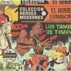 Tebeos: ARCHIVO * COLEC. HEROES MODERNOS * SERIE A * EDITORIAL DOLAR 1958 * LOTE 2 Nº HOMBRE ENMASCARADO *. Lote 262897355