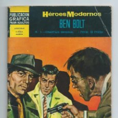 Tebeos: HEROES MODERNOS II EPOCA Nº 5, BEN BOLT. ED DOLAR (1966) INCOMPLETO. Lote 263001250