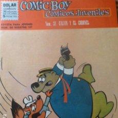 Tebeos: COMIC BOY Nº 37 GALVIN Y EL CORONEL DE DOLAR 1962. Lote 263237090
