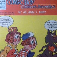 Livros de Banda Desenhada: COMIC BOY Nº 42 ANNY Y ANDY DE DOLAR 1963. Lote 263237545