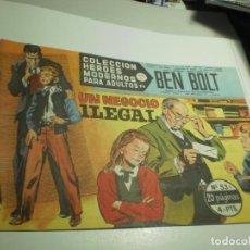 Tebeos: BEN BOLT Nº 53 UN NEGOCIO ILEGAL (SEMINUEVO). Lote 264455209