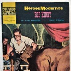 Tebeos: HÉROES MODERNOS, RIP KIRBY Nº 4 - EL VENGADOR - EDITORIAL DOLAR 1959. Lote 276923333