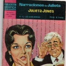 Giornalini: NARRACIONES DE JULIETA JONES Nº 4-100 AÑOS DESPUES. Lote 280330068