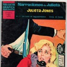Giornalini: NARRACIONES DE JULIETA JONES Nº 11-UN CASO DE ESQUIZOFRENIA. Lote 280333183