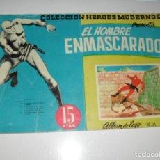Tebeos: ALBUM DE LUJO 15.EL HOMBRE ENMASCARADO.EDITORIAL DOLAR,AÑO 1958.. Lote 287576653