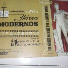 Tebeos: HEROES MODERNOS SERIE C 4 (DE 15):VARIOS PERSONAJES.EDITORIAL DOLAR,AÑO 1970. Lote 287647683