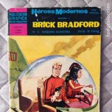 Tebeos: HEROES MODERNOS Nº 2 II EPOCA BRICK BRADFORD EDITORIAL DOLAR. Lote 288351803