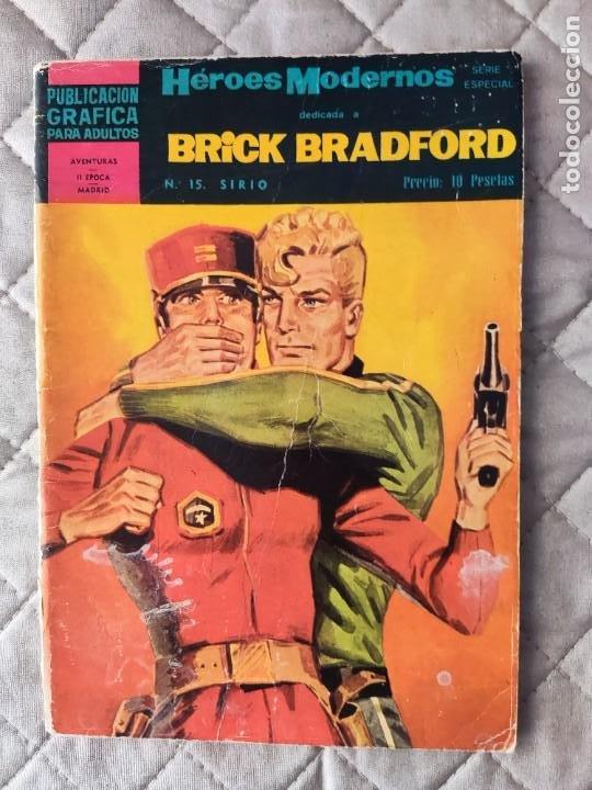 HEROES MODERNOS Nº 15 II EPOCA BRICK BRADFORD EDITORIAL DOLAR (Tebeos y Comics - Dólar)
