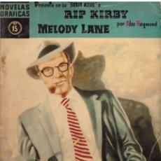 Tebeos: NOVELAS GRAFICAS, Nº 15, SERIE AZUL: RIP KIRBY - MELODY LANE; EDITORIAL DOLAR, AÑO 1959. Lote 293981893