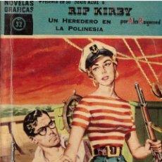 Tebeos: NOVELAS GRAFICAS, Nº 32, SERIE AZUL: RIP KIRBY - UN HEREDERO EN LA POLINESIA; EDITORIAL DOLAR, 1959. Lote 293981903