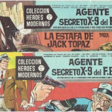 Tebeos: ARCHIVO * HEROES MODERNOS SERIE C Nº 4, 14 * AGENTE SECRETO X-9 DEL F.B.I.* DOLAR 1964 *. Lote 294084918