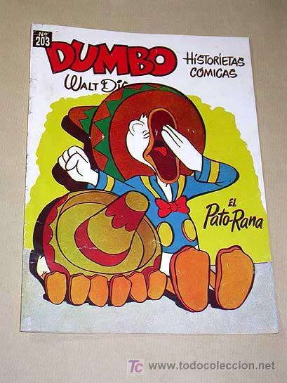 DUMBO Nº 203. HISTORIAS CÓMICAS, EL PATO RANA. WALT DISNEY. ERSA 1956. PATO DONALD, EL LOBITO.+++ (Tebeos y Comics - Ersa)