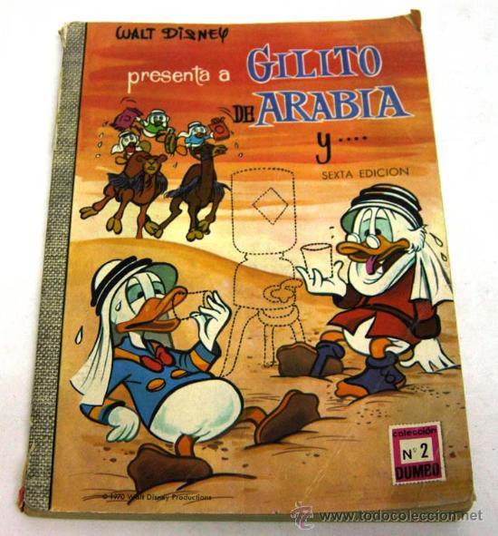 DUMBO WALT DISNEY Nº 2 GILITO DE ARABIA EDICIONES RECREATIVAS 1970 (Tebeos y Comics - Ersa)