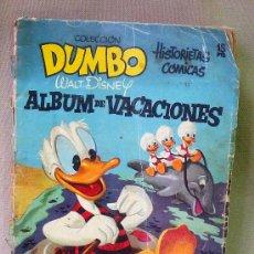 Tebeos: ALBUM DE VACACIONES, COLECCION DUMBO, WALT DISNEY, 1955. Lote 23679717
