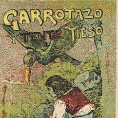Tebeos: CUENTOS DE CALLEJA, GARROTAZO Y TENTE TIESO, SERIE IV, T. 62, MEDIDAS 4,5 X 6 CM.. Lote 27199271