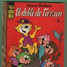 Tebeos: COLECCIÓN TELE-HISTORIETA. 5 EL DOBLE DE TARZÁN.HANNA-BARBERA.PICAPIEDRA,OSO YOGUI,HUCKLEBERRY HOUND. Lote 29192864