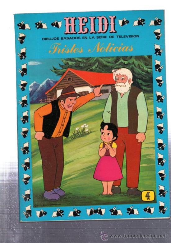 HEIDI, TRISTES NOTICIAS, 4, EDICIONES RECREATIVAS (Tebeos y Comics - Ersa)