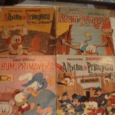 Tebeos: ALBUM DE PRIMAVERA DUMBO 1960,1961,1964 Y 1965. Lote 32907668