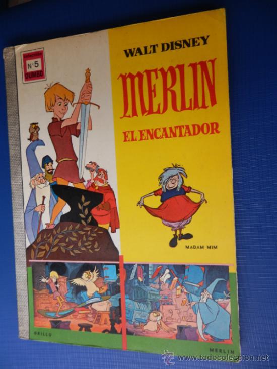 COLECCION DUMBO NUM. 5 - WALT DISNEY - MERLIN EL ENCANTADOR - ERSA AÑO 1966 (Tebeos y Comics - Ersa)