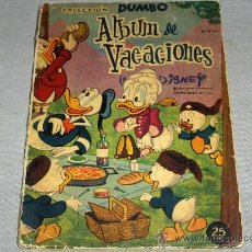 Tebeos: DUMBO ALBUM VACACIONES 1961. ERSA 25 PTS. WALT DISNEY. CON REGALO DEL DUMBO 51.. Lote 34714510