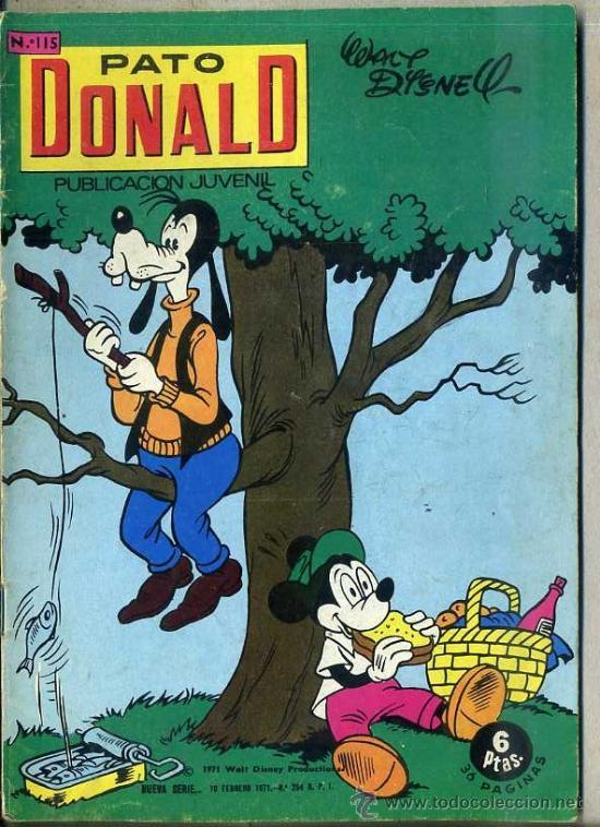 PATO DONALD Nº 115 (Tebeos y Comics - Ersa)