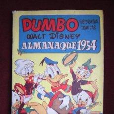 Tebeos: DUMBO. ALMANAQUE 1954. HISTORIETAS CÓMICAS. ERSA. WALT DISNEY. 15 PTS. MUY DIFICIL. Lote 36043429
