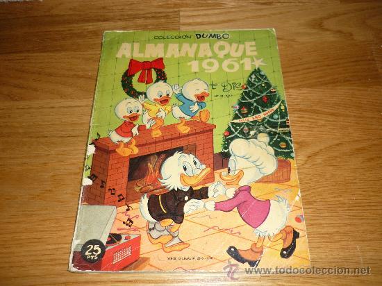 DUMBO ALMANAQUE 1961 (WALT DISNEY) (Tebeos y Comics - Ersa)