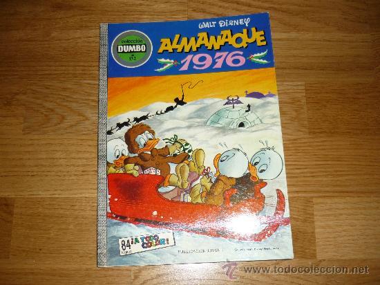 ALMANAQUE WALT DISNEY, DUMBO, 1976, NUEMRO 132, EDICIONES RECREATIVAS PERFECTO !!!!! (Tebeos y Comics - Ersa)
