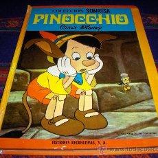 Tebeos: COLECCIÓN SONRISA Nº 6 PINOCCHIO PINOCHO. ERSA 1971. WALT DISNEY. TAPAS DURAS. DIFÍCIL!!!!!!!!!!!. Lote 38084634