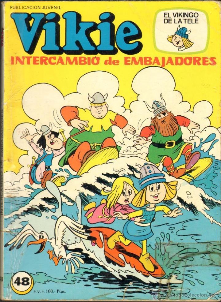TEBEOS-COMICS CANDY - VIKIE EL VIKINGO - Nº 48 - ED. ERSA - 1980 - *UU99 (Tebeos y Comics - Ersa)