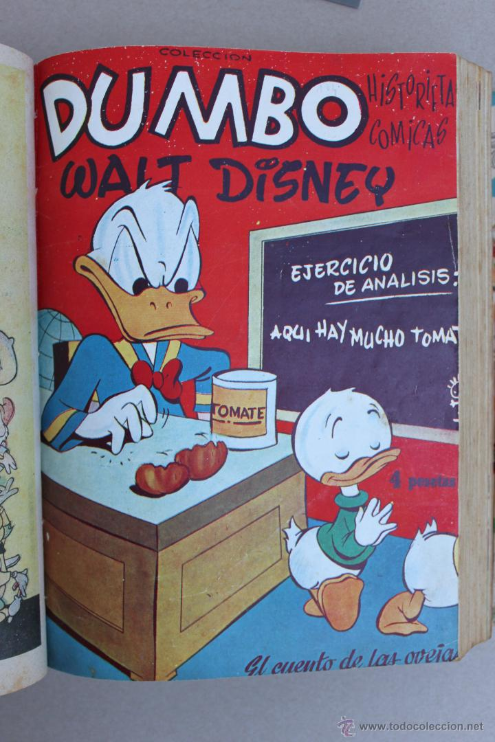 Tebeos: DUMBO HISTORIETAS COMICAS DE WALT DISNEY 22 NUMEROS ENCUADERNADOS año 1952-53 EDICIONES RECREATIVAS - Foto 3 - 41730415