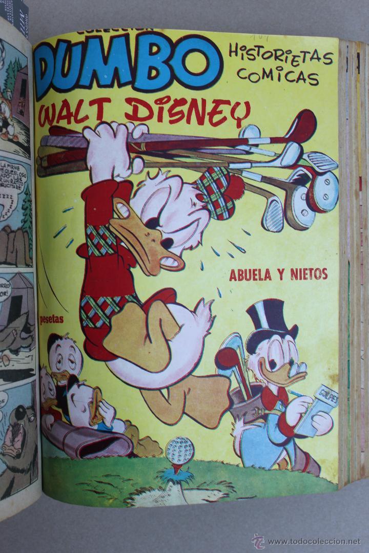 Tebeos: DUMBO HISTORIETAS COMICAS DE WALT DISNEY 22 NUMEROS ENCUADERNADOS año 1952-53 EDICIONES RECREATIVAS - Foto 6 - 41730415