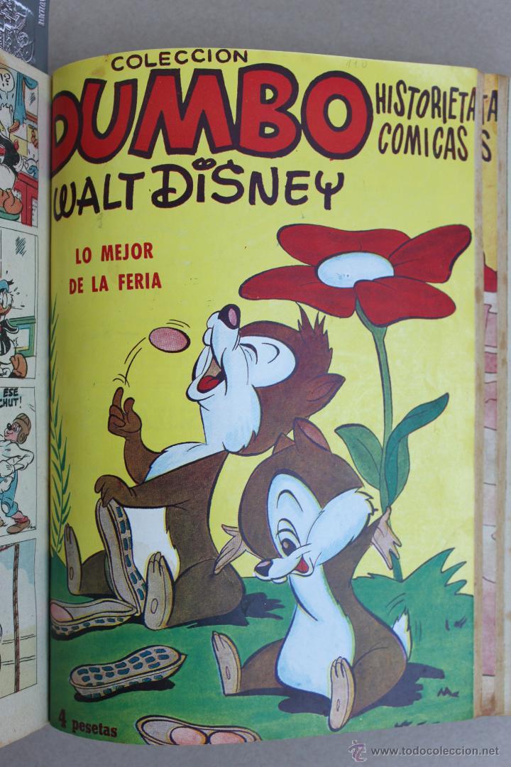 Tebeos: DUMBO HISTORIETAS COMICAS DE WALT DISNEY 22 NUMEROS ENCUADERNADOS año 1952-53 EDICIONES RECREATIVAS - Foto 9 - 41730415