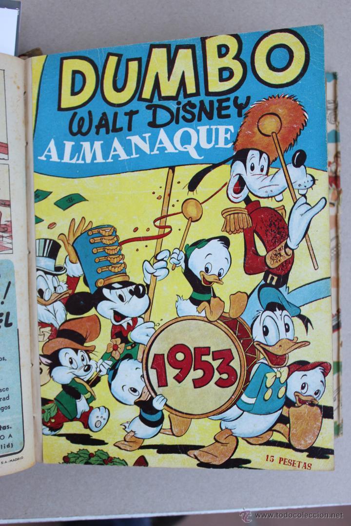 Tebeos: DUMBO HISTORIETAS COMICAS DE WALT DISNEY 22 NUMEROS ENCUADERNADOS año 1952-53 EDICIONES RECREATIVAS - Foto 13 - 41730415