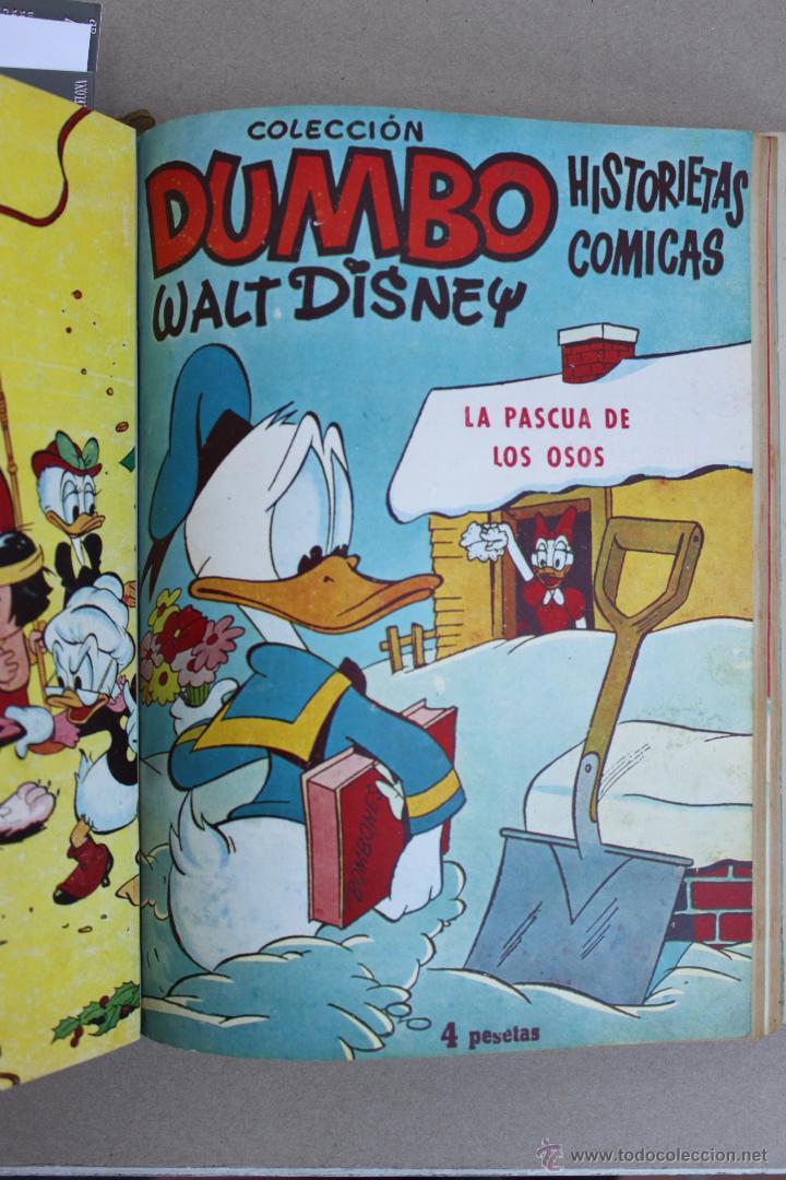 Tebeos: DUMBO HISTORIETAS COMICAS DE WALT DISNEY 22 NUMEROS ENCUADERNADOS año 1952-53 EDICIONES RECREATIVAS - Foto 14 - 41730415