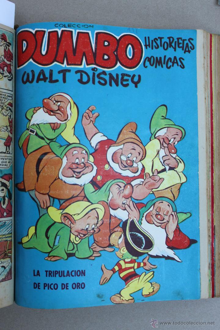 Tebeos: DUMBO HISTORIETAS COMICAS DE WALT DISNEY 22 NUMEROS ENCUADERNADOS año 1952-53 EDICIONES RECREATIVAS - Foto 16 - 41730415