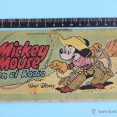 Tebeos: TEBEO COLECCION BONGO WALT DISNEY MICKEY MOUSE EN EL RODEO - ERSA. Lote 42292917