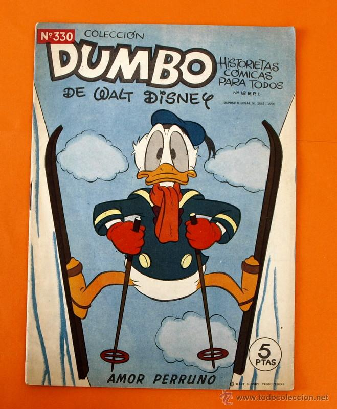 COLECCION DUMBO - WALT DISNEY - HISTORIETAS COMICAS - Nº 330 - AMOR PERRUNO - ERSA - (Tebeos y Comics - Ersa)