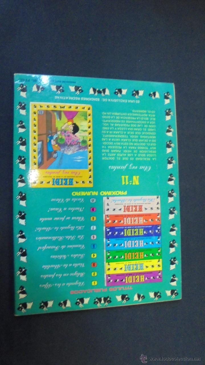 Tebeos: HEIDI - Nº 10 - EDICIONES RECREATIVAS. - Foto 4 - 47471069