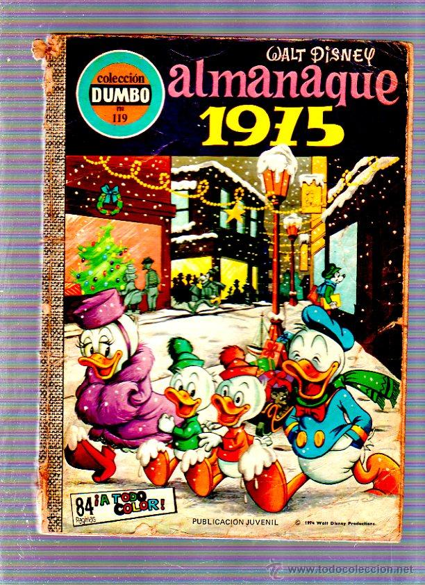 COLECCION DUMBO. Nº 119. ALMANAQUE 1975. WALT DISNEY. EDICIONES ERSA (Tebeos y Comics - Ersa)