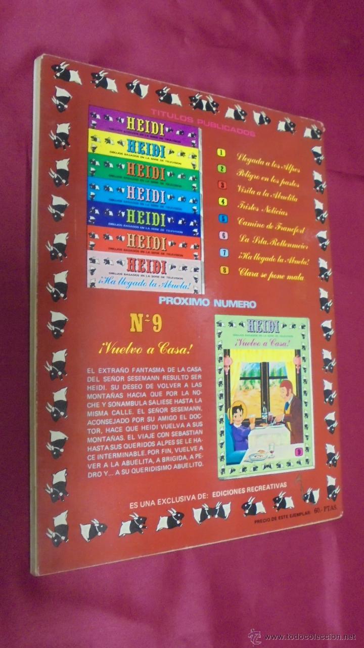 Tebeos: HEIDI. Nº 8. EDICIONES RECREATIVAS. ERSA. - Foto 5 - 50141963