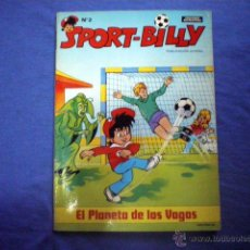 Tebeos: COMIC SPORT BILLY Nº 2 EL PLANETA DE LOS VAGOS 1980 ERSA ENTREVISTA JOHANN CRUYFF CONTRAPORTADA. Lote 52486486