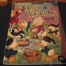 Tebeos: DUMBO - ALBUM DE VACACIONES 1961 - ERSA - WALT DISNEY. Lote 53146810