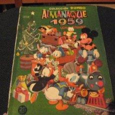 Tebeos: DUMBO - ALMANAQUE 1959 - ERSA - WALT DISNEY. Lote 53147023