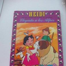 Tebeos: Nº 1 LLEGADA A LOS ALPES 1975. HEIDI. DIBUJOS BASADOS EN LA SERIE DE TELEVISÓN. COMIC. JUANA SPYRI. Lote 61352486