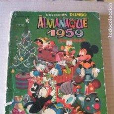 Tebeos: DUMBO ALMANAQUE 1959- ERSA ,ORIGINAL .AR.. Lote 63689059