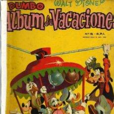 Tebeos: COLECCION DUMBO - ALBUM DE VACACIONES 1959 - ERSA - RARO DE VER - VER DESCRIPCION. Lote 68421893