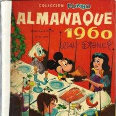 Tebeos: COLECCION DUMBO - ALMANAQUE 1960 - ERSA - RARO DE VER - VER DESCRIPCION. Lote 68422009