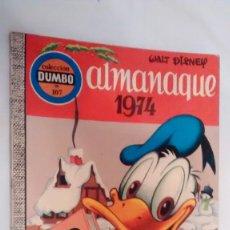 Tebeos: COLECCIÓN DUMBO 107 - ALMANAQUE 1974 WALT DISNEY - ERSA. Lote 69287373