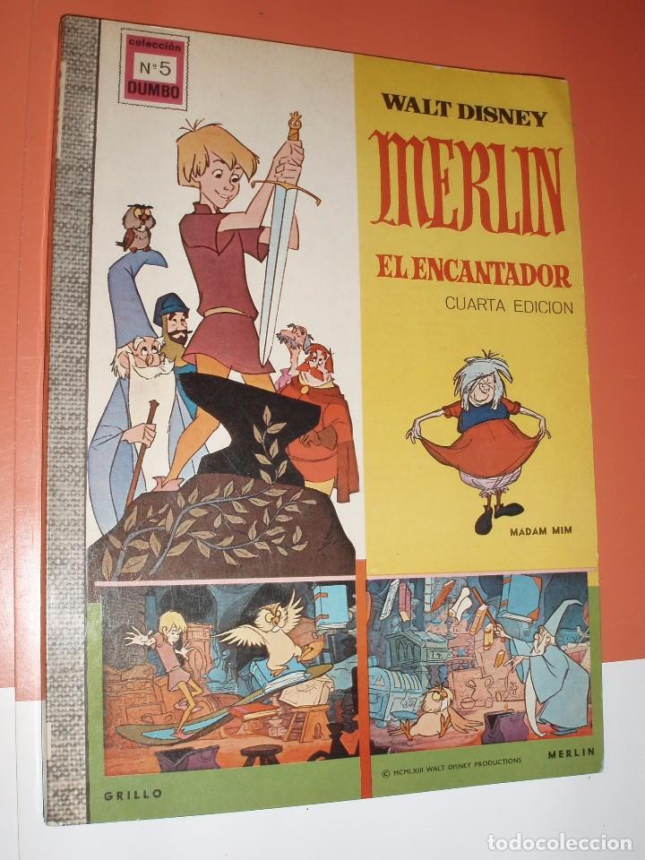 DUMBO Nº5 MERLIN EL ENCANTADOR COMIC DISNEY ERSA MUY BUEN ESTADO (Tebeos y Comics - Ersa)